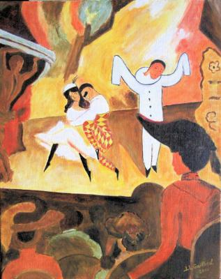 Copie tableau d'August Macke