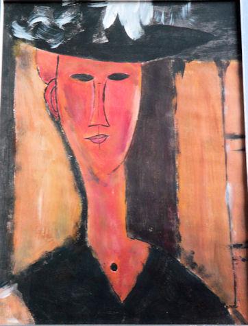 Copie tableau de Modigliani