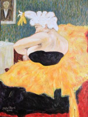d'après le tableau de Toulouse Lautrec