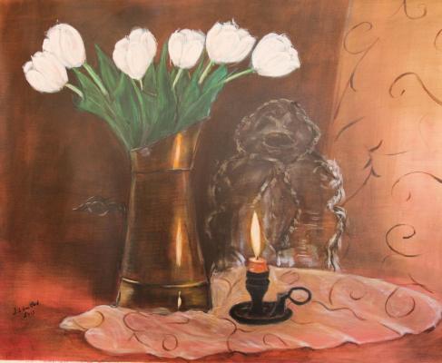 Le broc aux tulipes